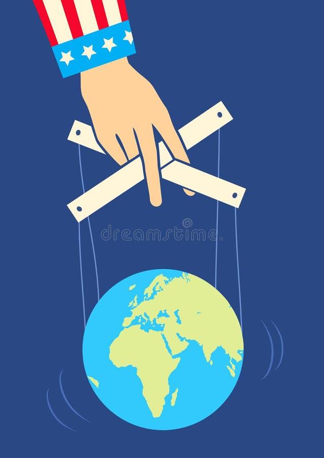 Hand steuert die Erde vektor abbildung