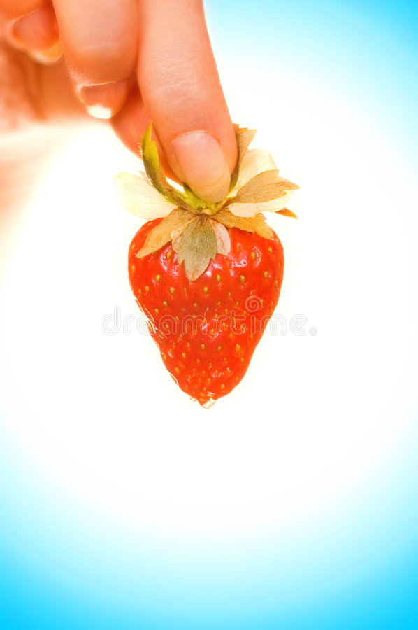 Download Hand with a strawberry stock image. Image of health, people - 2186665