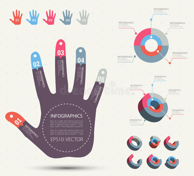Hand-style info graphic. stock illustration