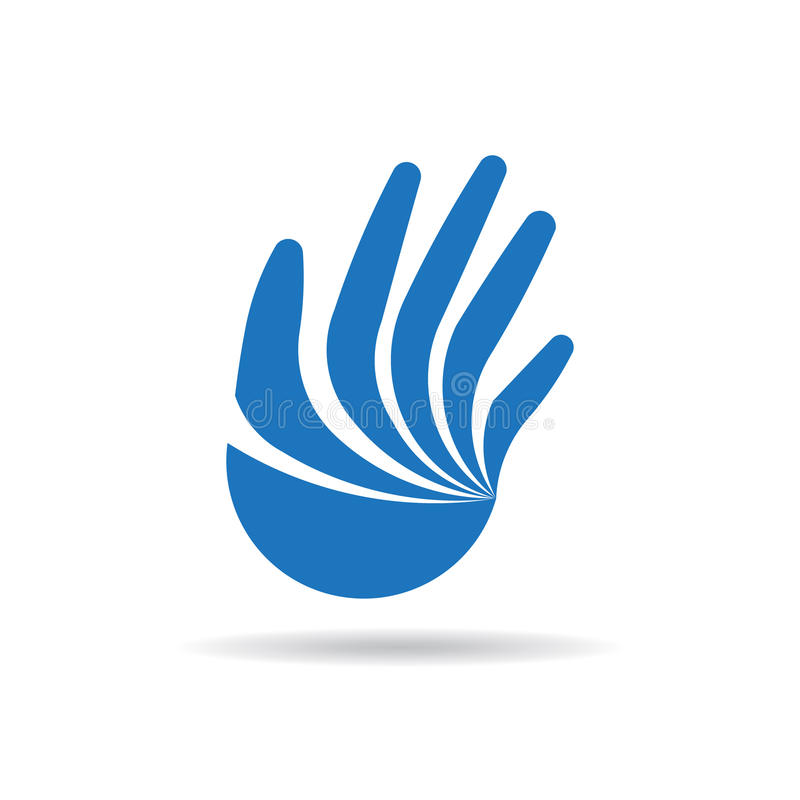 Hand Stylized with fingers Illustration. Concept for a Human Campaign Alertness stock illustration