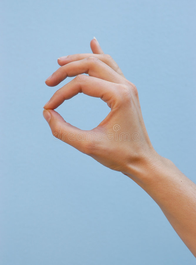 Hand: super royalty free stock photo
