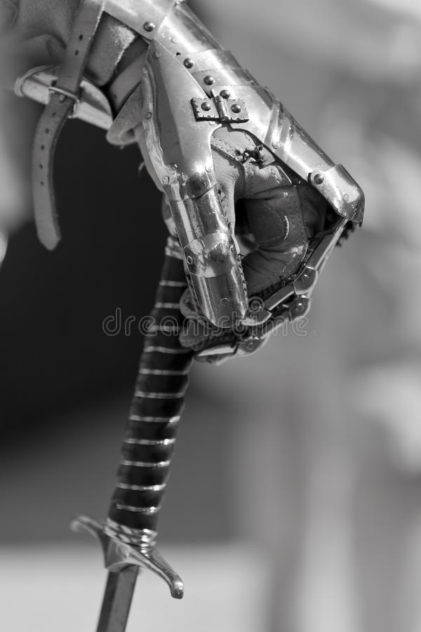Hand & Sword stock images