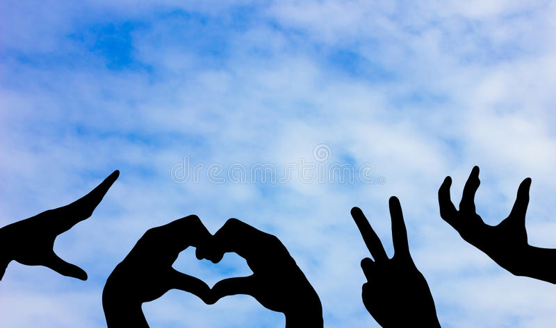 The hand symbol royalty free stock photography