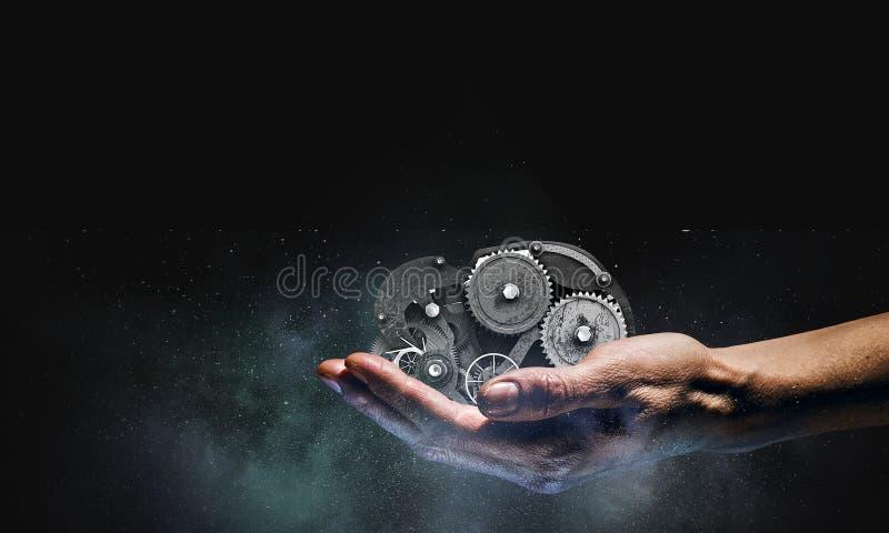 In hand tandradmechanisme Gemengde media stock foto's