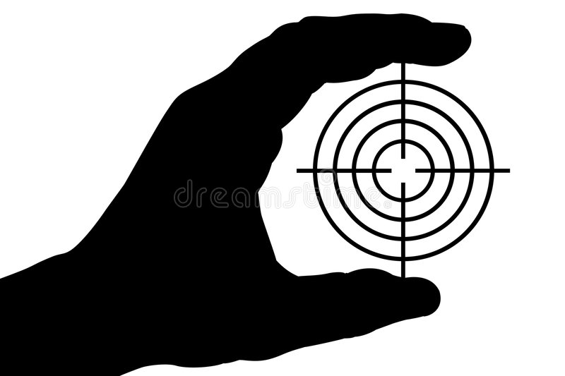 Hand with target 1 royalty free illustration
