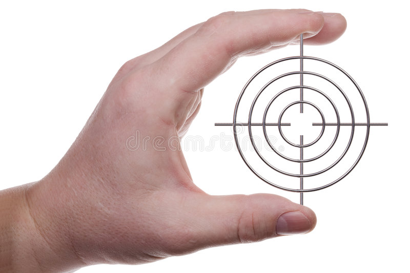 Hand with target 2 stock photo