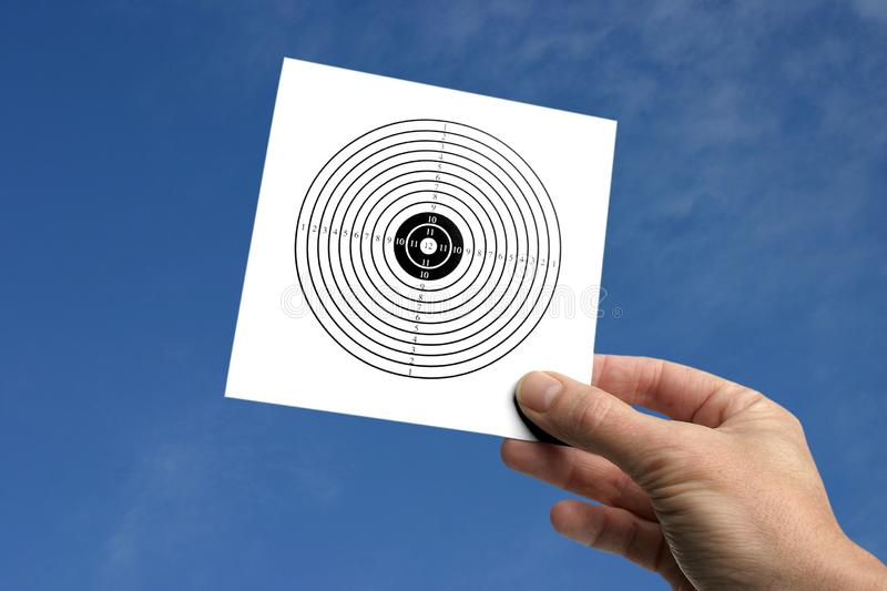 Hand with target royalty free stock photo
