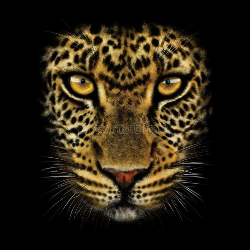 Hand-teckning stående av en leopard arkivfoton