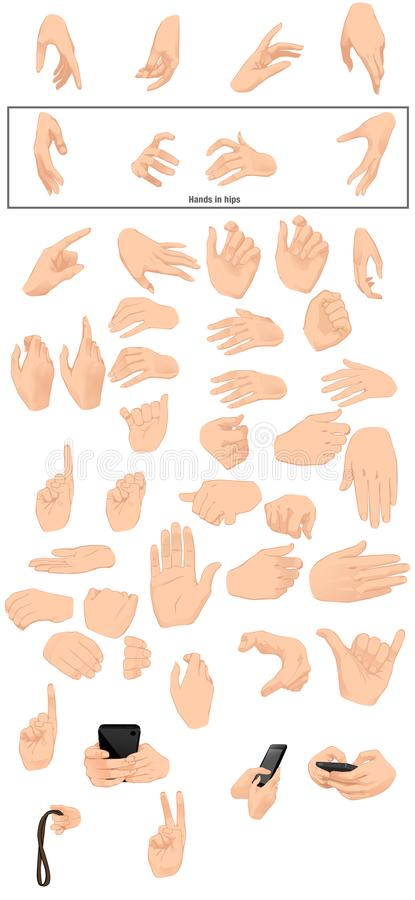 Hand templates includes hold of celphone stock photography