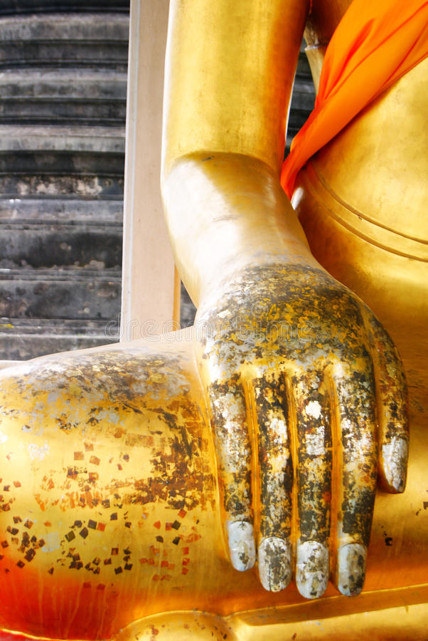 Hand of thai buddhist statue stock photos