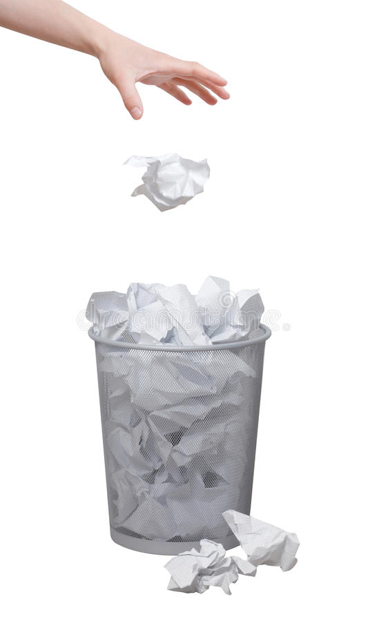 Hand throwing out paper stock images