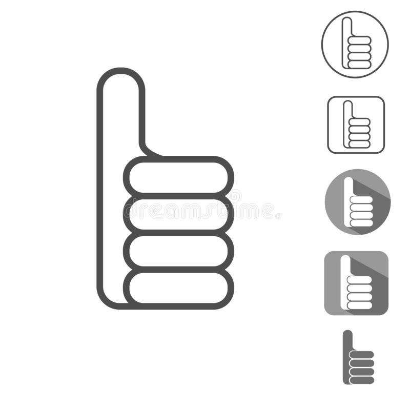 Hand with a thumb up, OK royalty free illustration