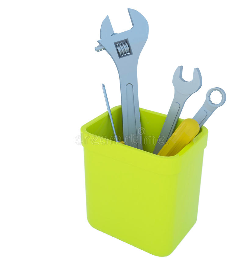 Download Hand Tool In The Plastic Box Stock Illustration - Image: 25197547