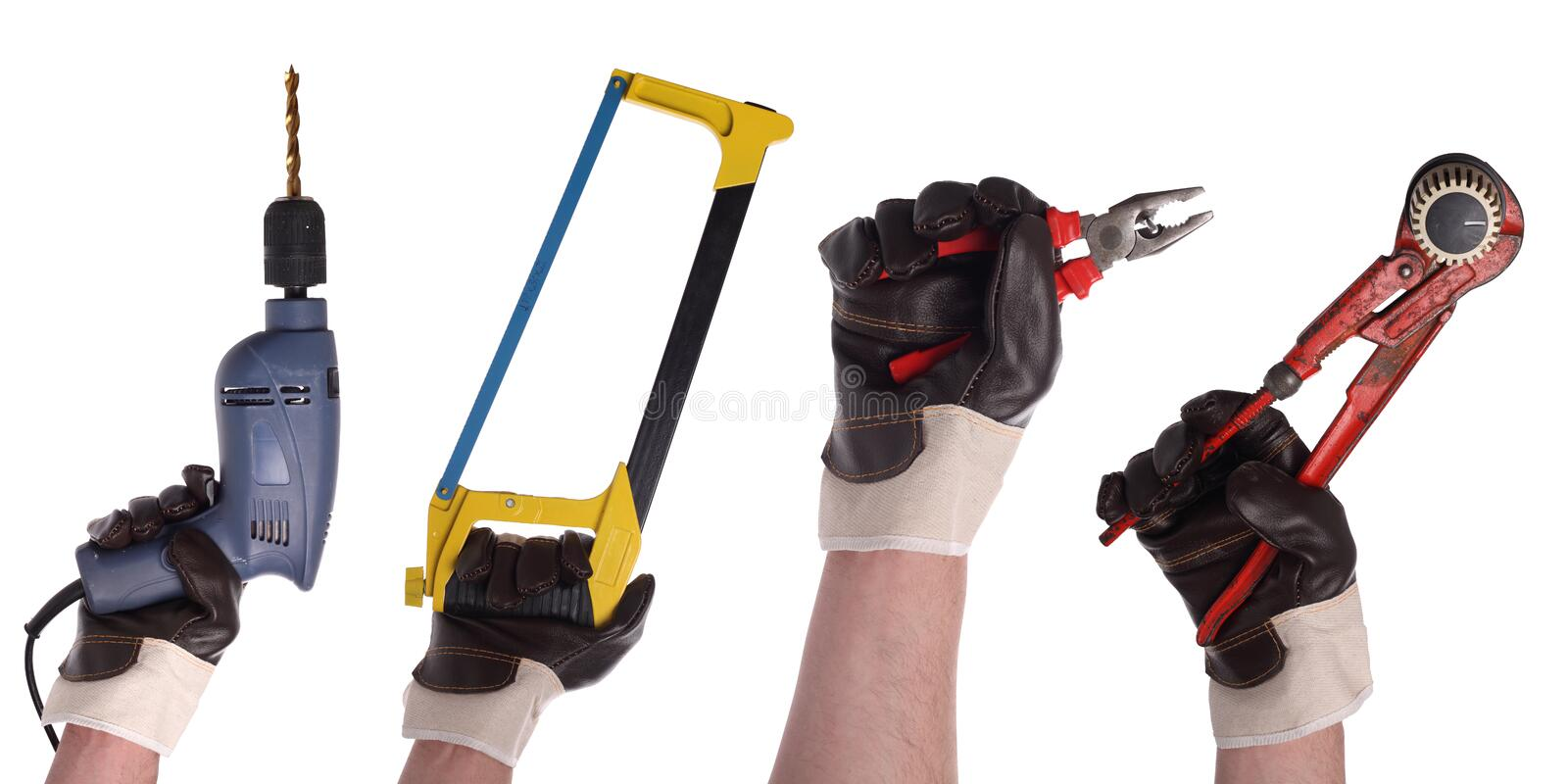 Hand tool set 3 stock images