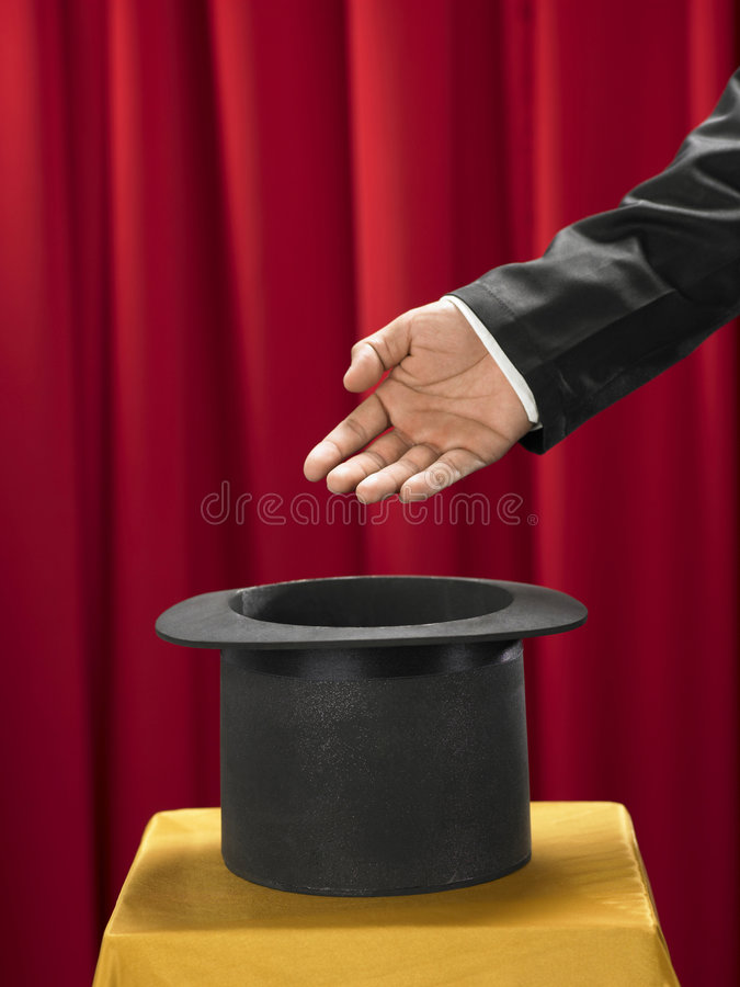 Download Hand and top hat stock photo. Image of aspirations, magic - 8250020