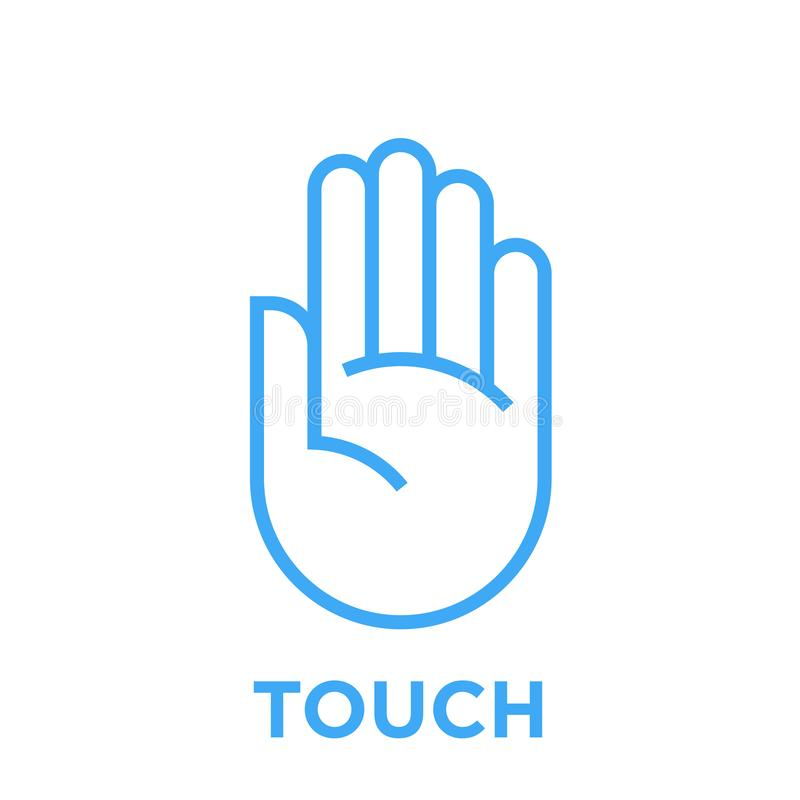 Hand touch icon vector illustration