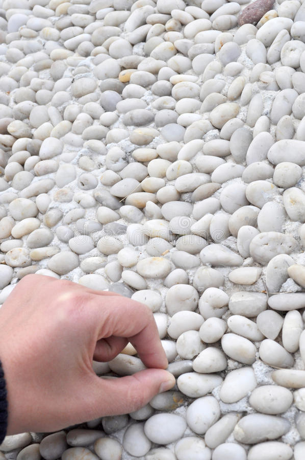 Download Hand touch pebbly path stock photo. Image of healthy - 17853674
