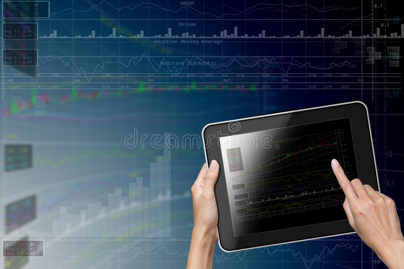 Download Hand Touch Screen To Tablet Stock Photo - Image: 26878460
