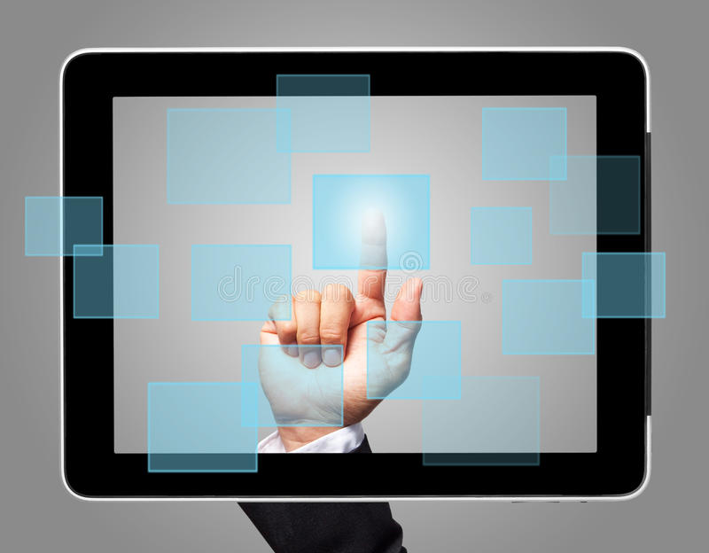 Download Hand Touch Screen Virtual Icon Stock Illustration - Image: 26536455