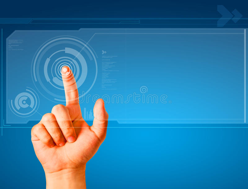 Download Hand touching a button stock illustration. Illustration of concepts - 17829452