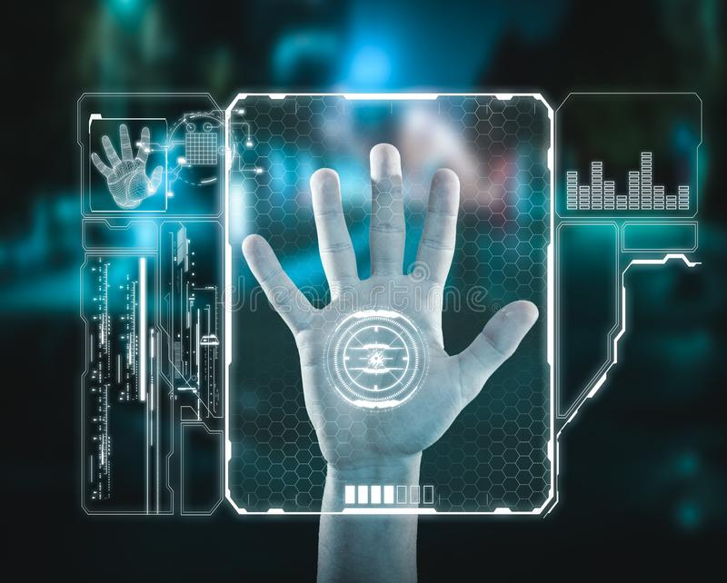 Fingerprint verification. . Fingerprint verification stock images