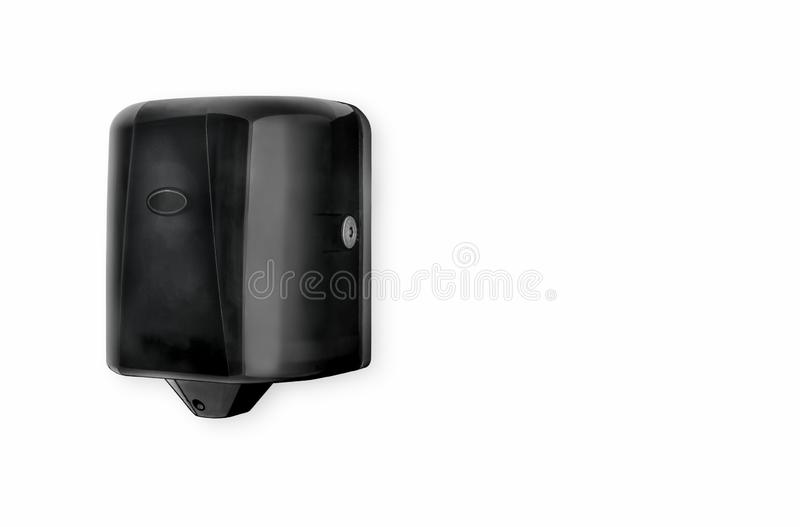 Hand Towel Dispenser Black Centre Pull Plastic. Jumbo Paper Towels royalty free stock image