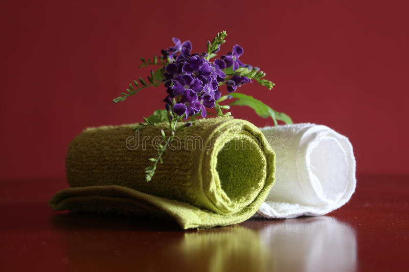 Hand towel. Fluffy soft cotton hand towel royalty free stock image