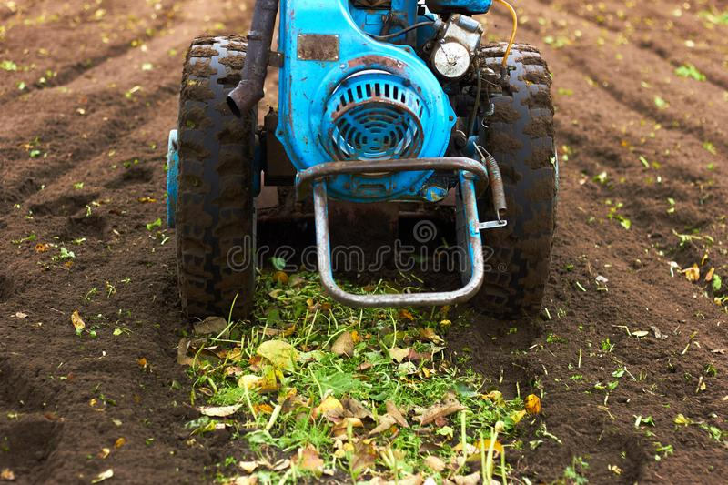Disk Harrow in garden stock image. Image of dirt ...