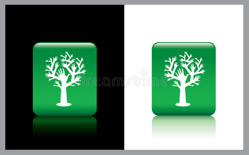 Download Hand tree stock image. Image of planet, buttons, colors - 21065463