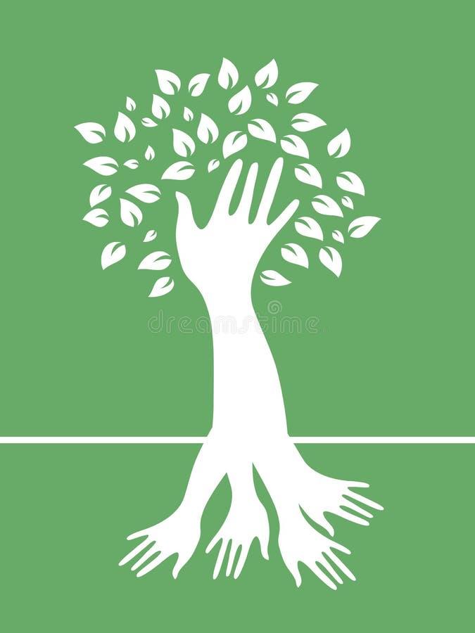 Hand tree stock illustration