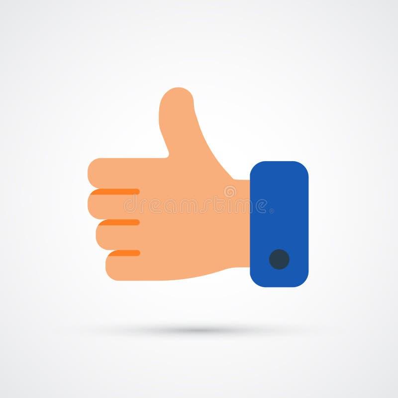 Hand trendy social symbol. Vector trendy colored illustration stock illustration