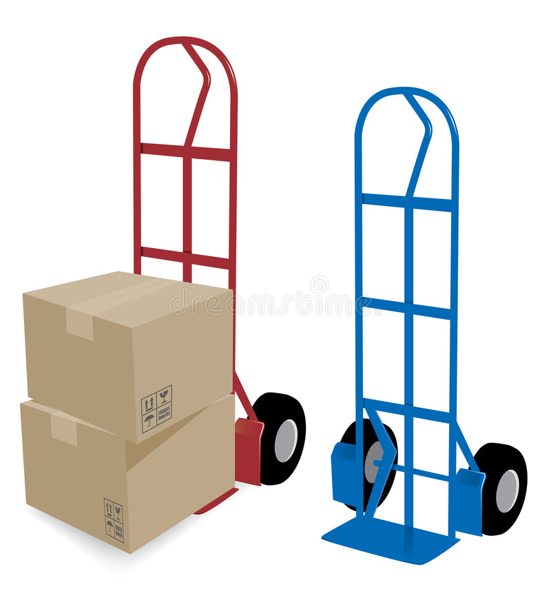Free Hand Truck Delivery Royalty Free Stock Photography - 3747997