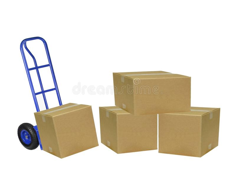 Download Hand truck mover stock image. Image of truck, isolated - 14860767