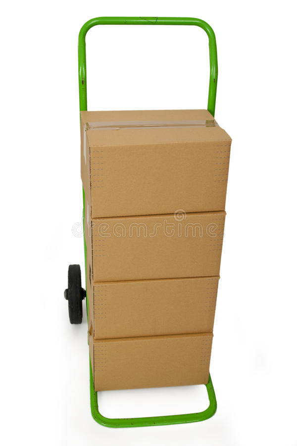 Download Hand truck with packages stock photo. Image of background - 18442312