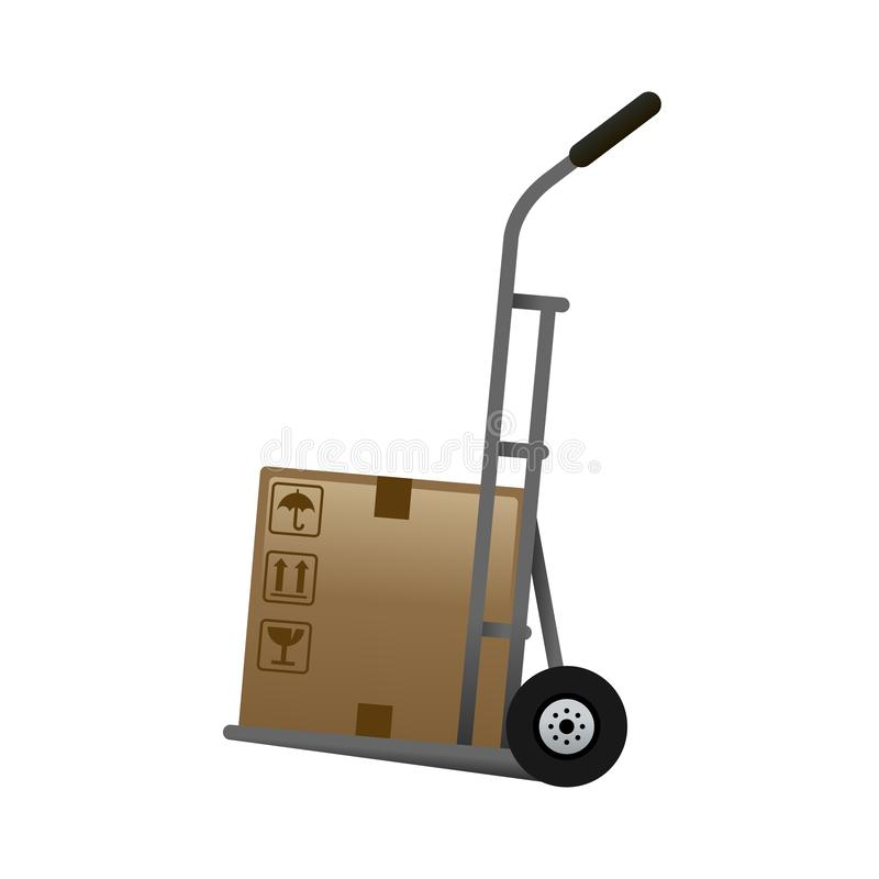 Hand Truck - of the Realistic Icons Collection . A professional, realistic, pixel aligned icon. Hand Truck - of the Realistic Icons Collection . A professional stock illustration