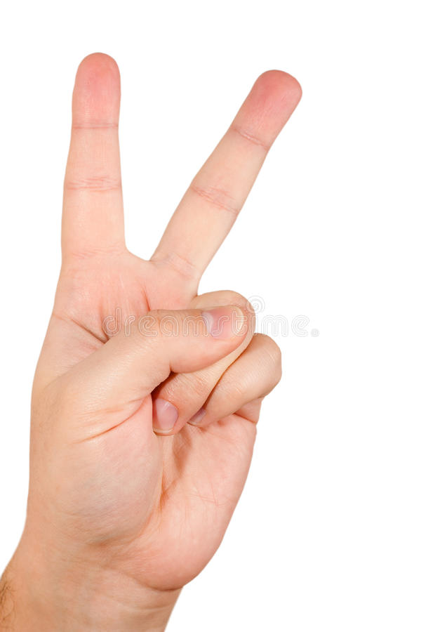 Download Hand With Two Fingers Stock Image - Image: 16808951