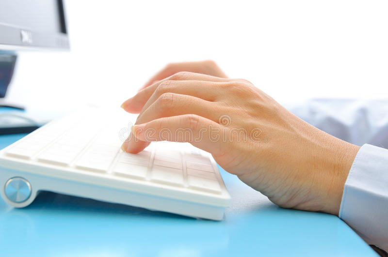Download Hand Typing On Computer Keyboard Royalty Free Stock Image - Image: 24682606