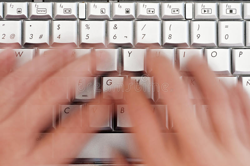 Download Hand Typing On Laptop Keyboard Stock Image - Image of business, male: 26646911
