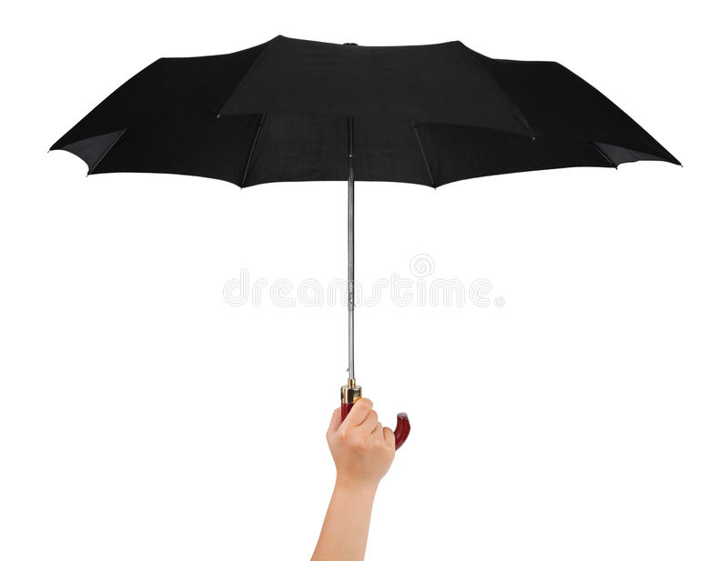 Download Hand with umbrella stock photo. Image of protective, black - 23214682