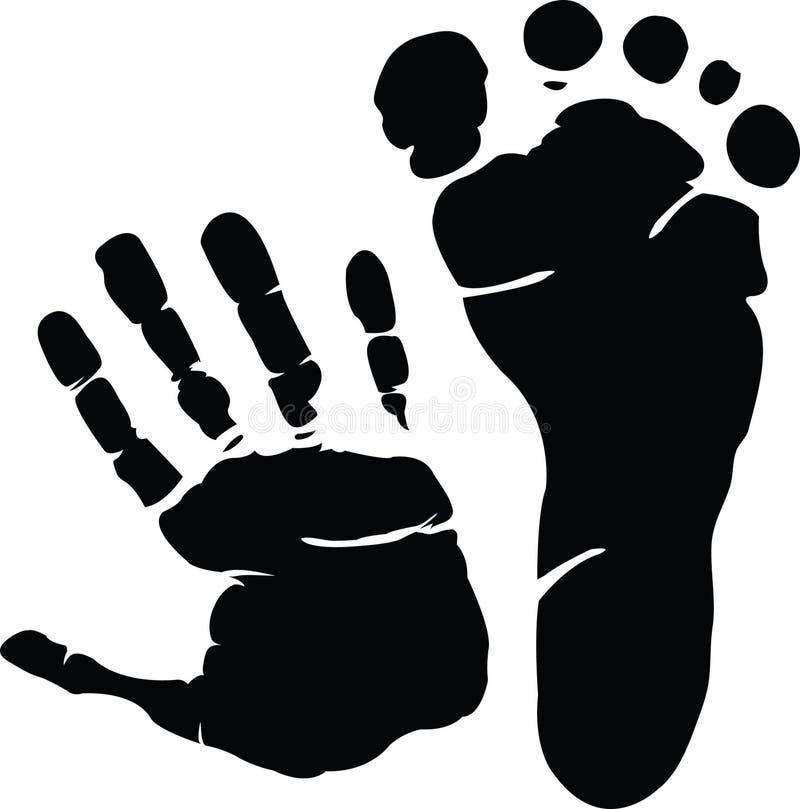 Hand und Abdruck stock abbildung