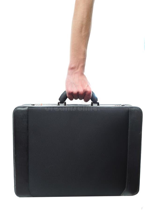 Hand- und Armholdingaktenkoffer lizenzfreie stockfotos
