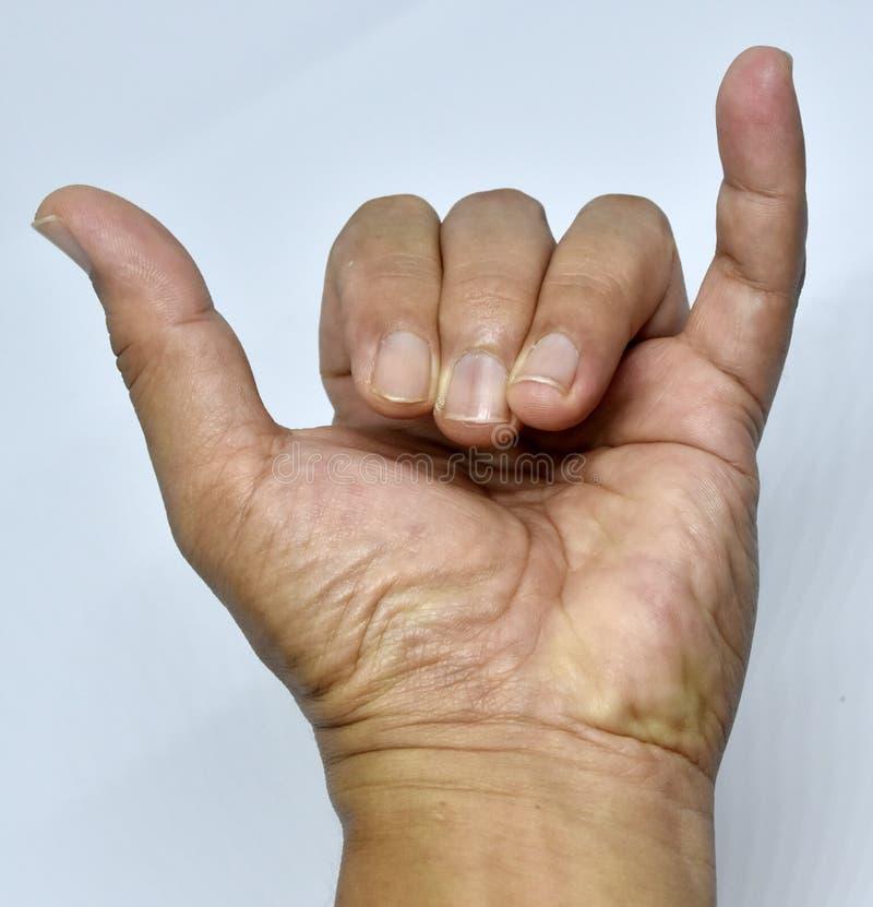 Hand und Arten von Fingern stockbilder