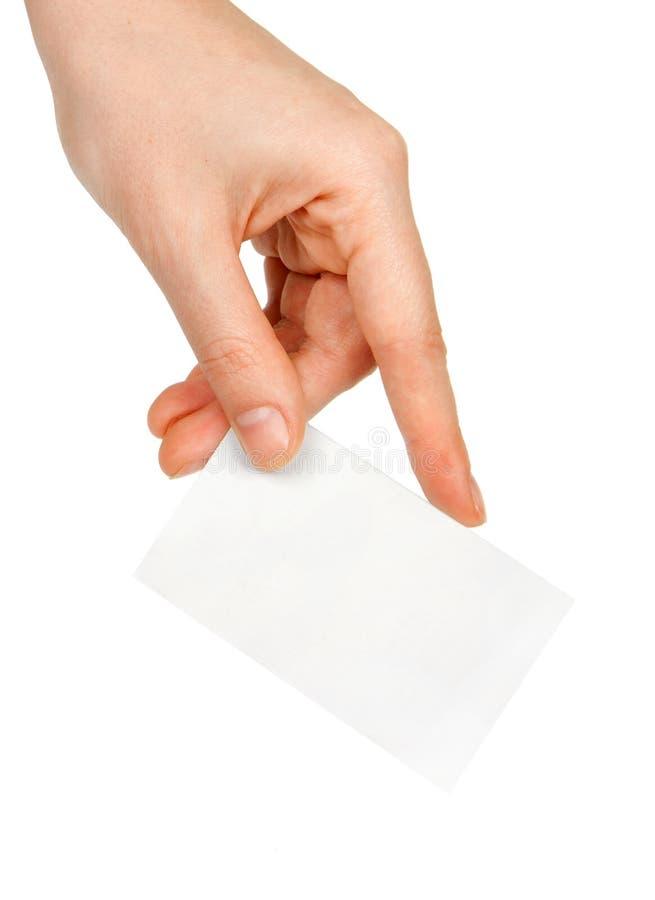 Hand und eine Karte stockfotos