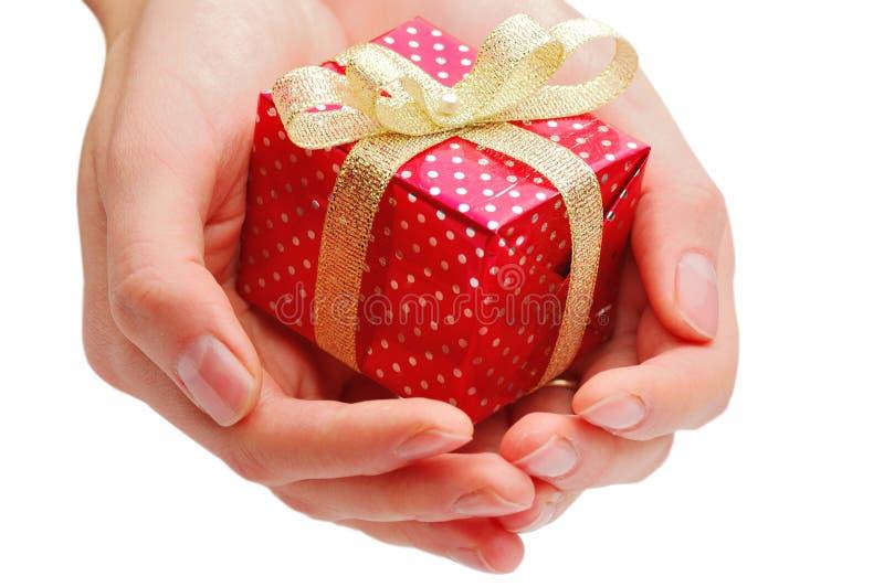 Hand und Geschenk lizenzfreies stockfoto