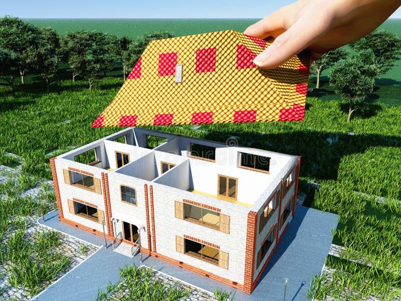 Hand und Haus vektor abbildung