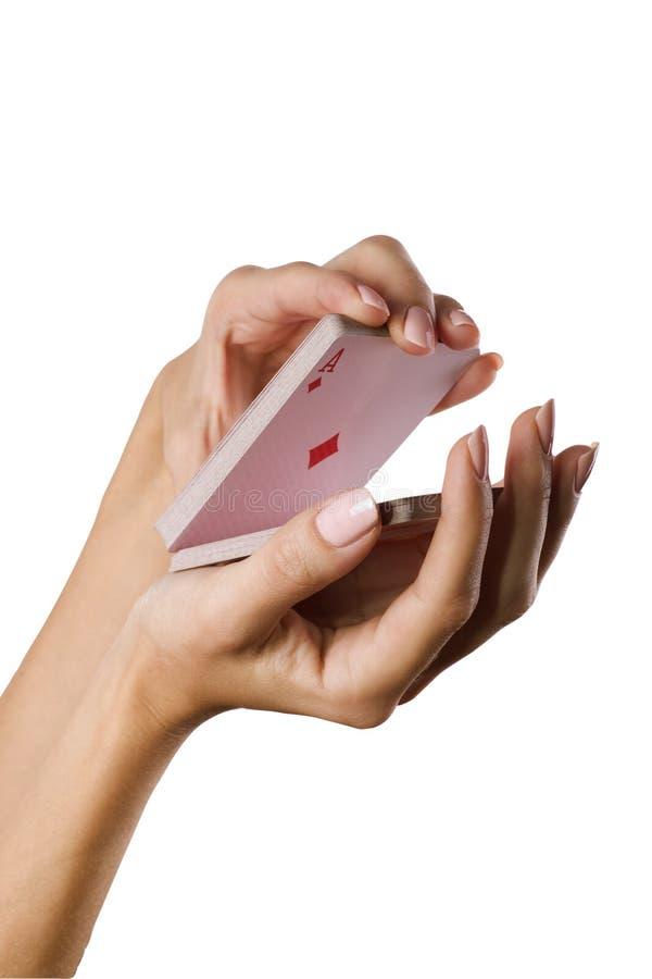 Hand und Karte lizenzfreies stockbild