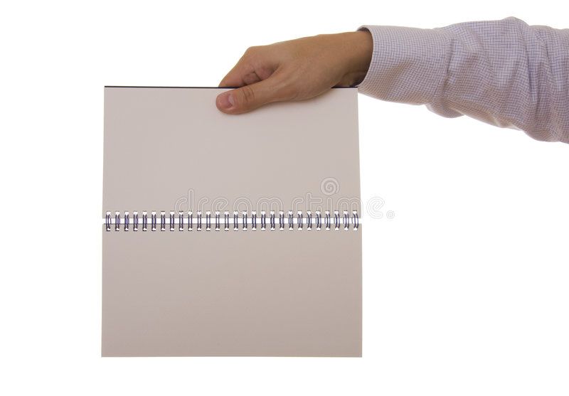 Hand und Notizbuch stockfotos