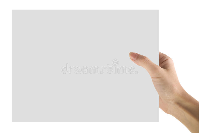 Hand und Papier stockfotografie