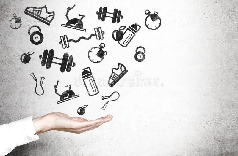 Hand und Sport- Waren lizenzfreie stockbilder