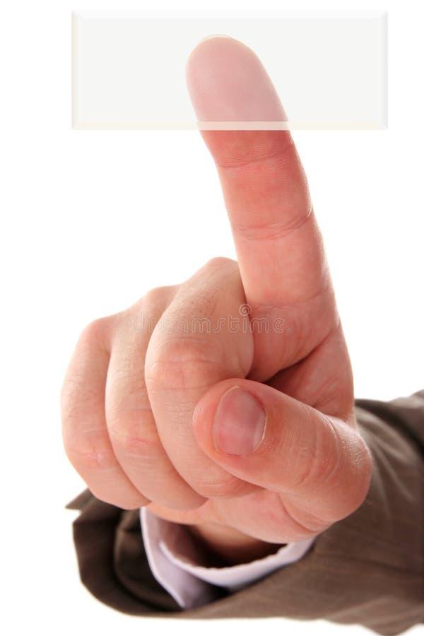 Hand und Taste stockbilder
